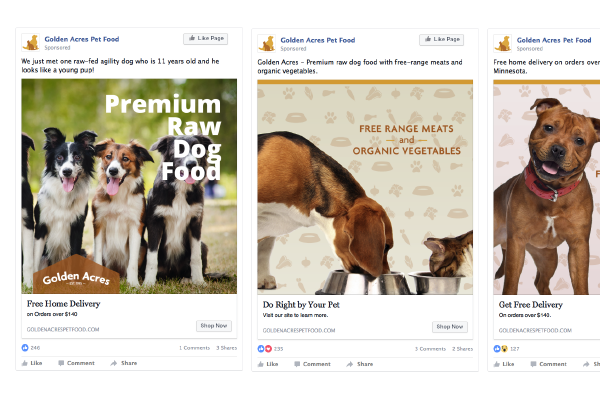 Golden Acres Facebook Ads
