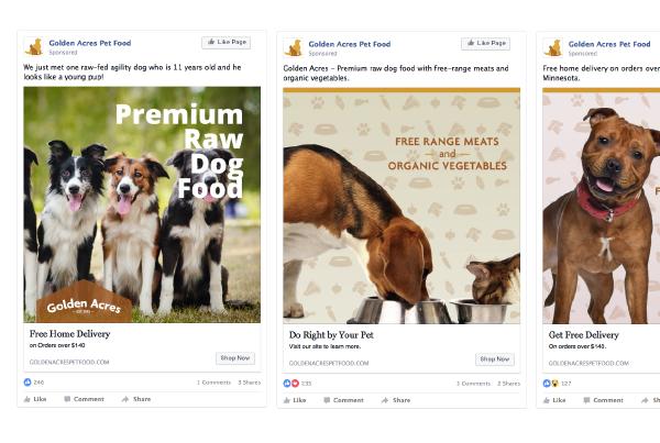 Golden Acres Facebook Ads