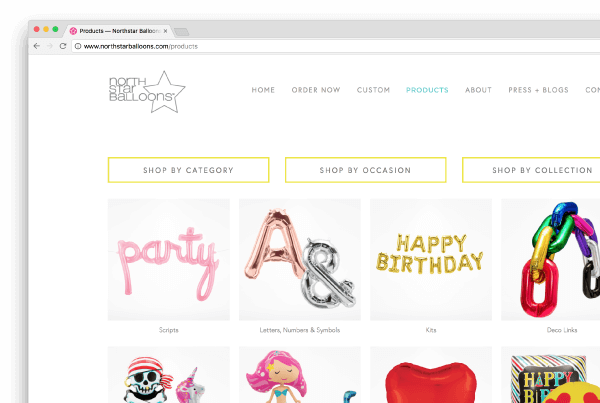 Northstar Balloons Website