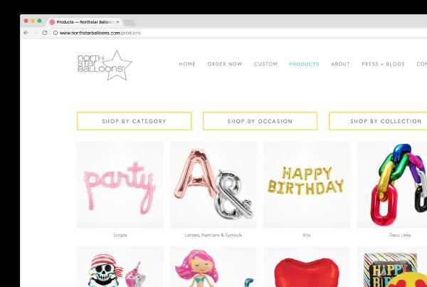 Northstar Balloons Website